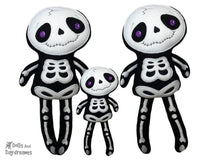 Embroidery Machine Big Skeleton Pattern - Dolls And Daydreams - 1