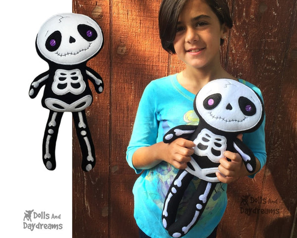 Embroidery Machine Big Skeleton Pattern - Dolls And Daydreams - 4