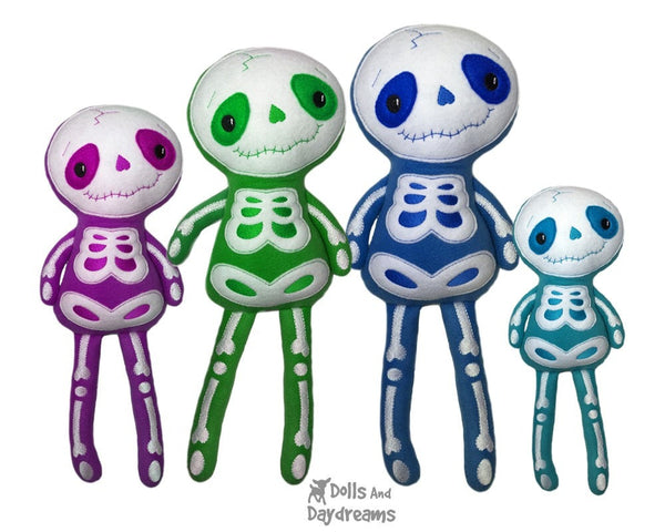 Embroidery Machine Big Skeleton Pattern - Dolls And Daydreams - 3