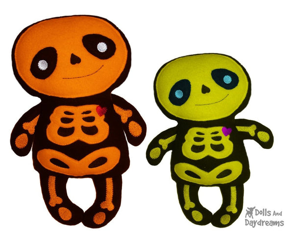 Embroidery Machine Skeleton Pattern - Dolls And Daydreams - 3
