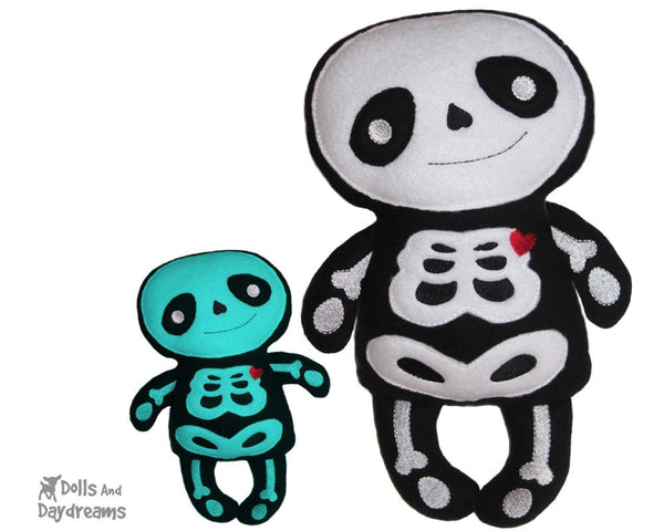 Embroidery Machine Skeleton Pattern - Dolls And Daydreams - 1
