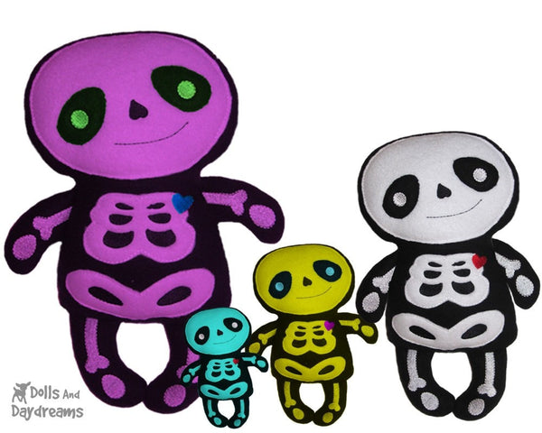Embroidery Machine Skeleton Pattern - Dolls And Daydreams - 5