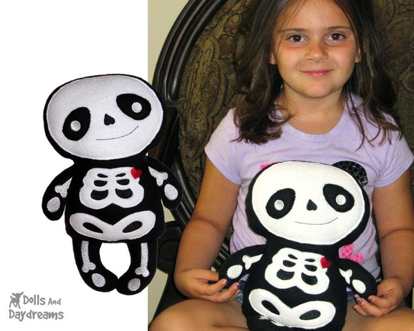 Embroidery Machine Skeleton Pattern - Dolls And Daydreams - 4