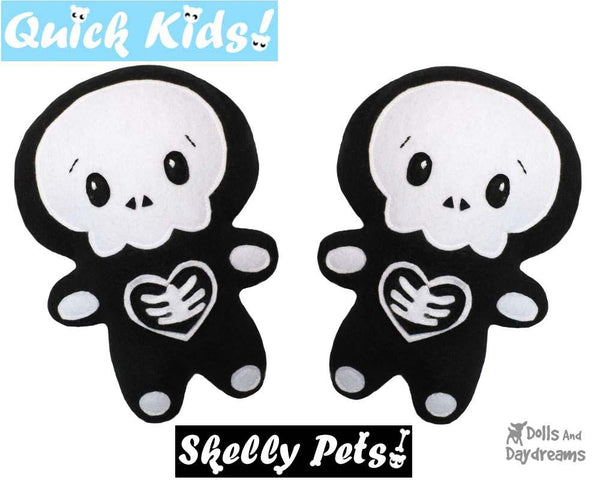 Quick Kids Skelly Boy Sewing Pattern by Dolls And Daydreams