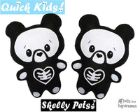Quick Kids Skelly Teddy Sewing Pattern by Dolls And Daydreams