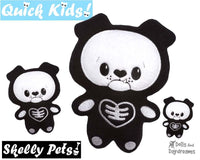 ITH Quick Kids Skelly Puppy Pattern In The Hoop Softie by Dolls And Daydreams