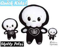 Quick Kids Skelly Boy In The Hoop Pattern by Dolls And Daydreams