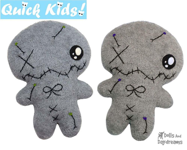 Quick Kids Voodoo Pincushion Sewing Pattern Teach your Kids to Sew by Dolls And Daydreams