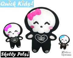ITH Quick Kids Skelly Girl Pattern