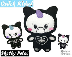 ITH Quick Kids Skelly Unicorn Pattern