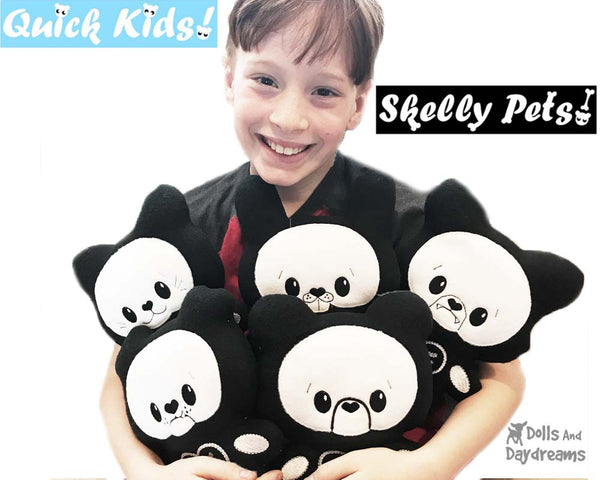ITH Quick Kids Skelly Kitty Pattern