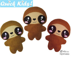 Quick Kids Sloth Sewing Pattern