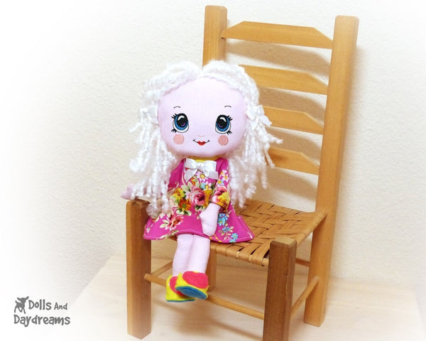 Hand Embroidery Or Painting Kawaii Girl Doll Face Pattern - Dolls And Daydreams - 6
