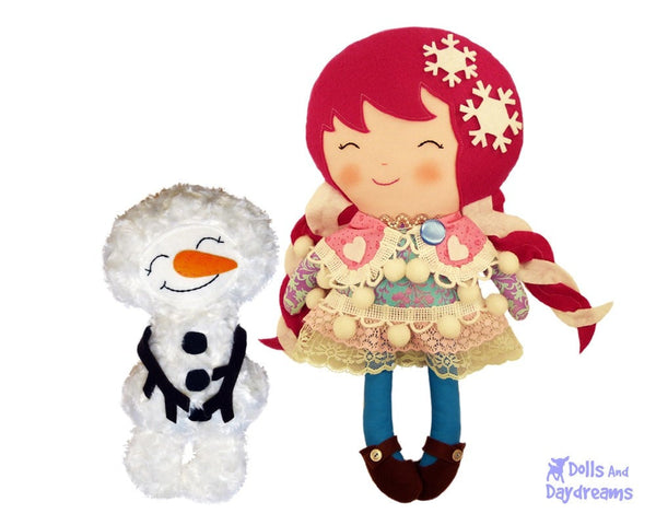 Snowman Sewing Pattern - Dolls And Daydreams - 5
