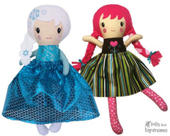 ITH Snow Sisters Doll Pattern Set