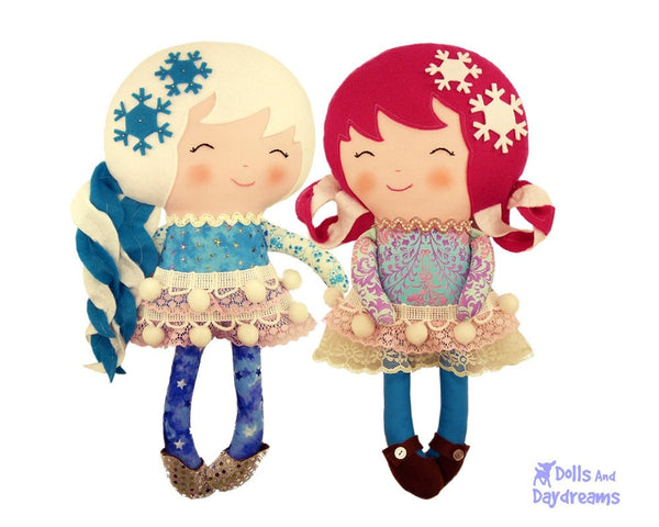 Snow Sisters Sewing Pattern - Dolls And Daydreams - 3
