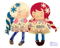 Snow Sisters Sewing Pattern - Dolls And Daydreams - 1