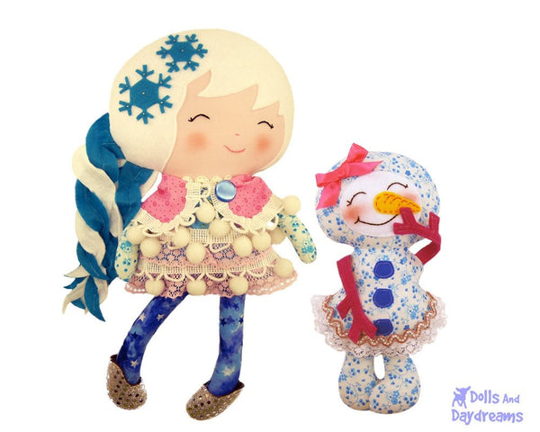 Winter Friends Sewing Pattern - Dolls And Daydreams - 1
