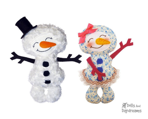 Snowman Sewing Pattern - Dolls And Daydreams - 1