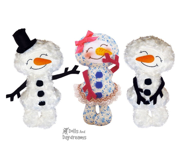 Snowman Sewing Pattern - Dolls And Daydreams - 4