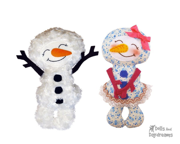 Snowman Sewing Pattern - Dolls And Daydreams - 2
