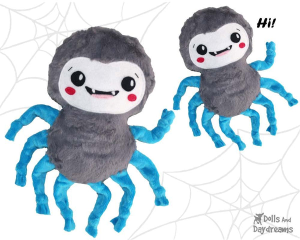 Spider Sewing Pattern by Dolls And Daydreams DIY childrens plush toy