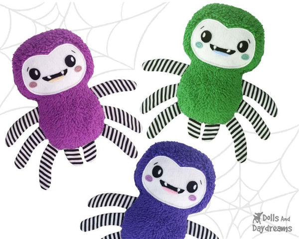 Spider Sewing Pattern by Dolls And Daydreams Easy Fun DIY kids fabric toy