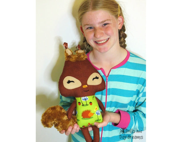 Squirrel Sewing Pattern - Dolls And Daydreams - 4