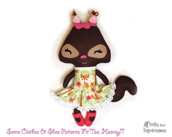 Squirrel Sewing Pattern - Dolls And Daydreams - 3
