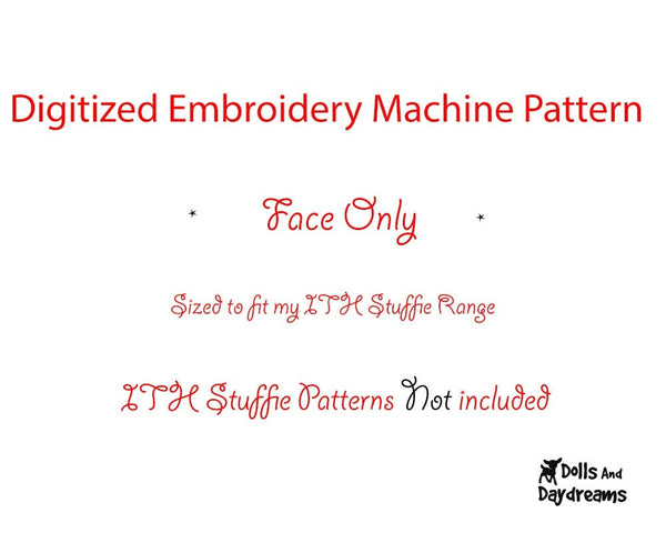 Machine Embroidery Yetie Face - Dolls And Daydreams - 2