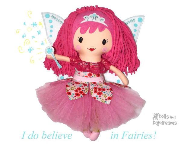 Yarn Hair Fairy Doll Sewing Pattern by Dolls And Daydreams