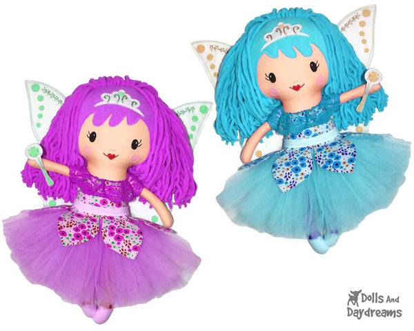 Wool Hair Wig Tutorial Fairy Doll Sewing Pattern by Dolls And Daydreams