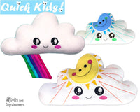 ITH Quick Kids Sun and Rainbow Cloud Pattern teach children to sew