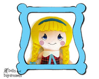 Machine Embroidery Cutie Pie Doll Face Pattern - Dolls And Daydreams - 1