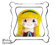 Hand Embroidery Or Painting Cutie Pie Doll Face Pattern