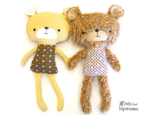 Teddy Bear Sewing Pattern - Dolls And Daydreams - 1