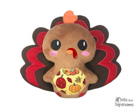 Machine Embroidery Turkey Toy Pattern by Dolls And Daydreams
