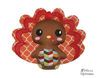 Turkey Sewing Softie Pattern kids diy toy by dolls and daydreams