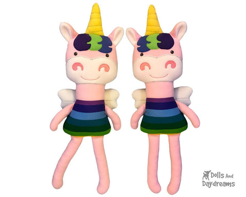 ITH Big Unicorn Pattern Embroidery machine dolls And Daydreams