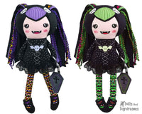 ITH Vampire Girl Doll Machine Embroidery Pattern by Dolls And Daydreams