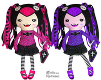 Vampire Girl Dolly Sewing Pattern by Dolls And Daydreams