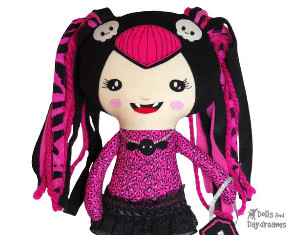 Vampire Girl Doll Sewing Pattern by Dolls And Daydreams