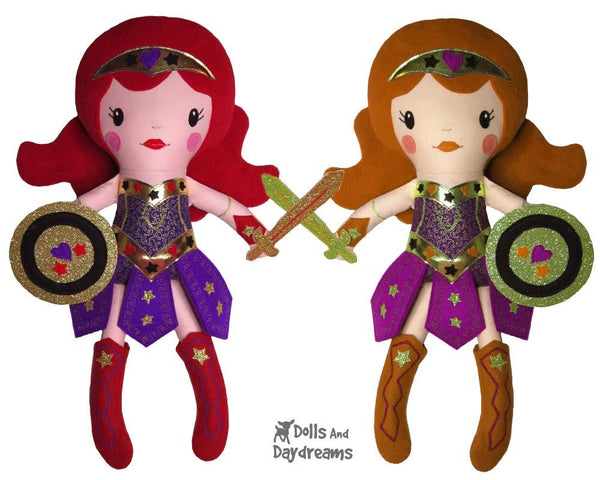 Warrior Princess Doll Girl Superhero Sewing Pattern by Dolls And Daydreams