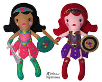 Warrior Princess Doll Sewing Pattern by Dolls And Daydreams