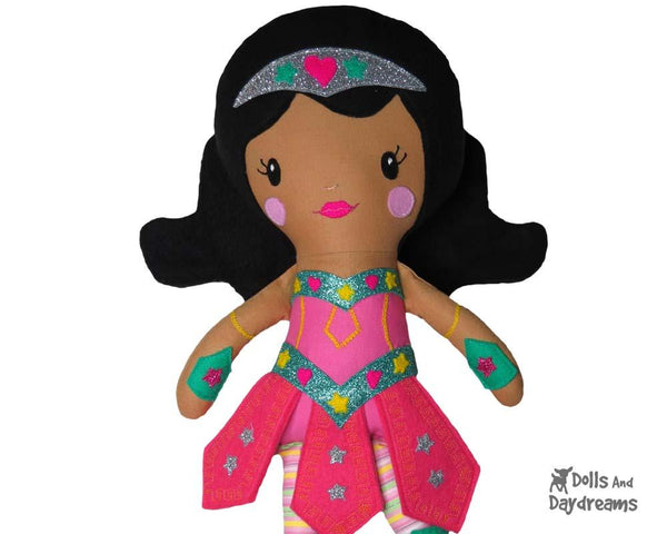 Warrior Princess Cloth Doll Sewing Girl Superhero Pattern by Dolls And Daydreams Amazon
