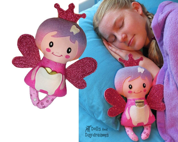 Secret Pocket Tooth Fairy Sewing Pattern - Dolls And Daydreams - 3