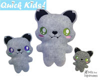 ITH Quick Kids Wolf Pattern by Dolls And Daydreams