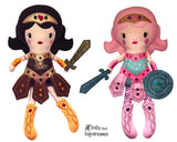 ITH Machine Embroidery Warrior Princess Pattern by Dolls And Daydreams