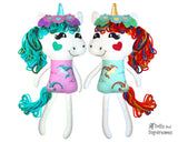 Yarn Hair Unicorn Softie Sewing Pattern DIY Kids Plush Toy by Dolls And Daydreams