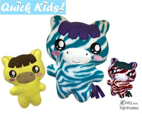 ITH Quick Kids Zebra Horse Pattern